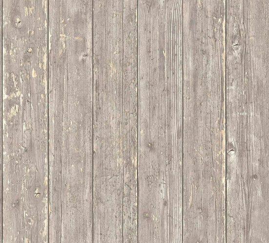 living walls Vliestapete »Authentic Walls Vintage«, glatt, gemustert, matt, Holz, realistisch, uni, (1 St), glatt