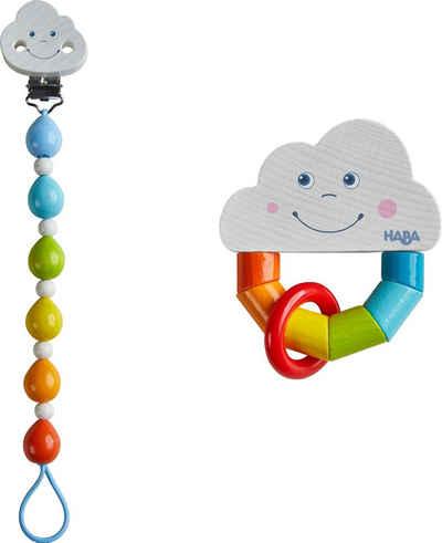 Haba Greifling »Regenbogenwelt« (Set, 2-tlg), mit Schnullerkette
