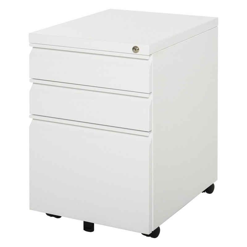 Vinsetto Rollcontainer »Rollcontainer mit Schubladen und Ablagefläche«