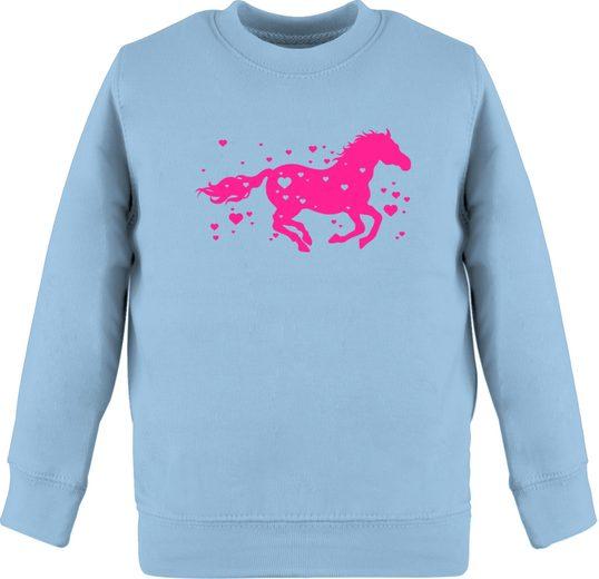 Shirtracer Sweatshirt »Pferd mit Herzen - fuchsia - Pferde & Reiten Kind - Kinder Premium Pullover«
