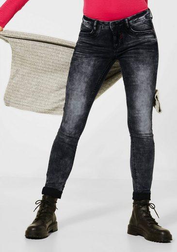 STREET ONE Slim-fit-Jeans »York« mit farbigen Nieten