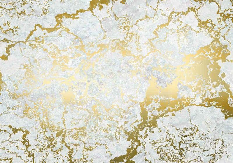 Komar Fototapete »Marbelous«, glatt, Steinoptik, schimmernd, Gold-Optik, (Packung)