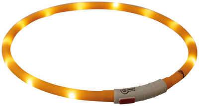 TRIXIE Hunde-Halsband »Flash USB«, Silikon, Kunststoff, 70 cm Länge, kürzbar, in versch. Farben