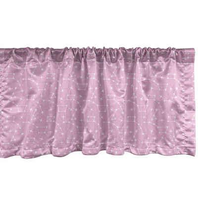 Scheibengardine »Vorhang Volant für Küche Schlafzimmer Dekor mit Stangentasche«, Abakuhaus, Sterne Constellations auf Pink Zurück