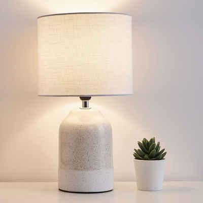 Pauleen LED Tischleuchte »Sandy Glow inklusive Leuchtmittel«, 3step dimmbar, Beige, Weiß, Keramik, Stoffschirm