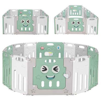 FCH Laufgitter »Laufstall Baby Krabbelgitter Absperrgitter Schutzgitter«, faltbar für Kinder mit Tür und Spielzeug