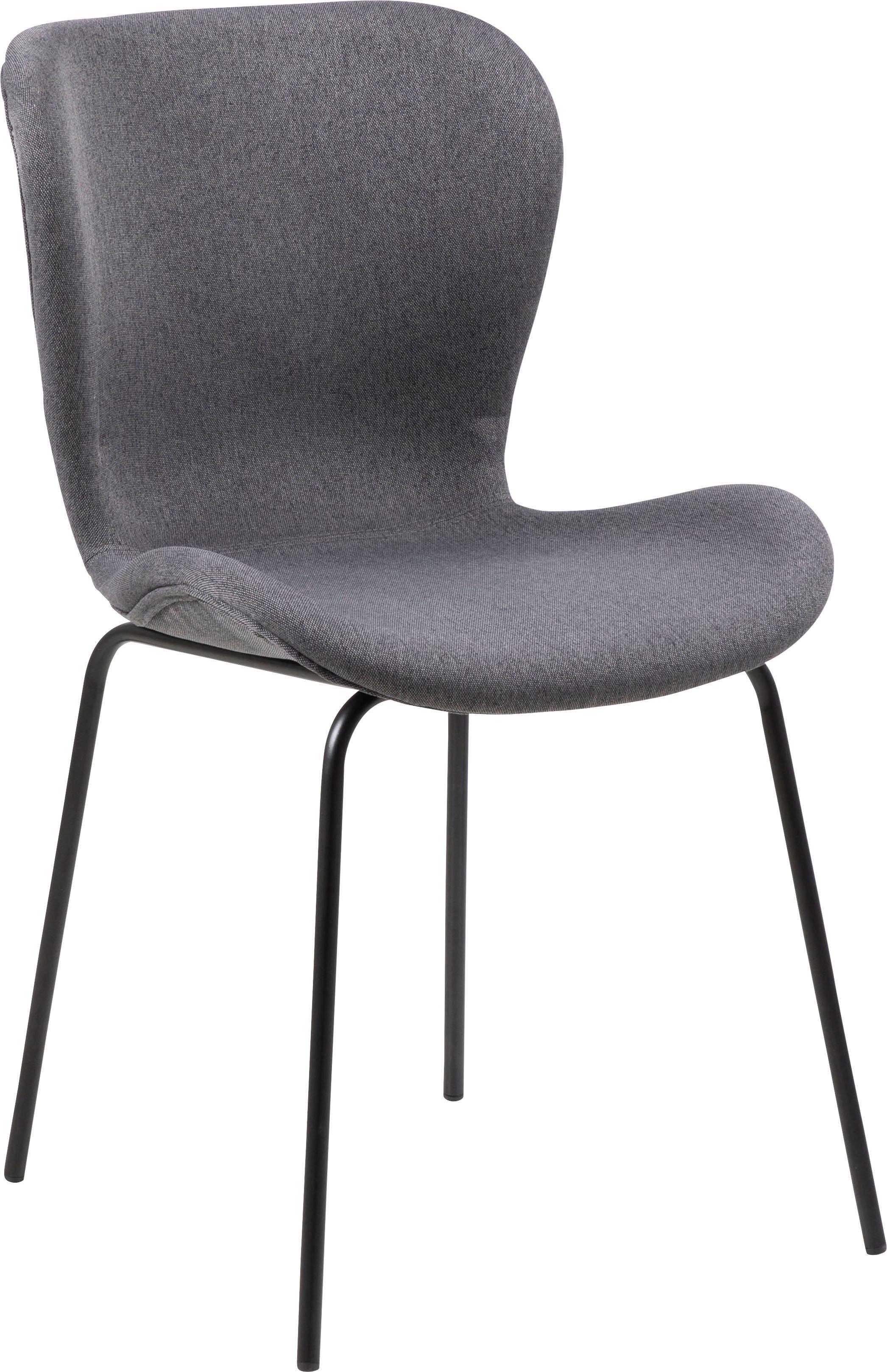 andas Esszimmerstuhl »Britta« 2er Set, mit einem pflegeleichten Webstoff Bezug, schwarzen Metallbeinen, Sitzhöhe 47 cm online kaufen | OTTO