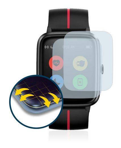 BROTECT Schutzfolie »für Ulefone Watch GPS«, (2 Stück), Full-Cover 3D Curved klar