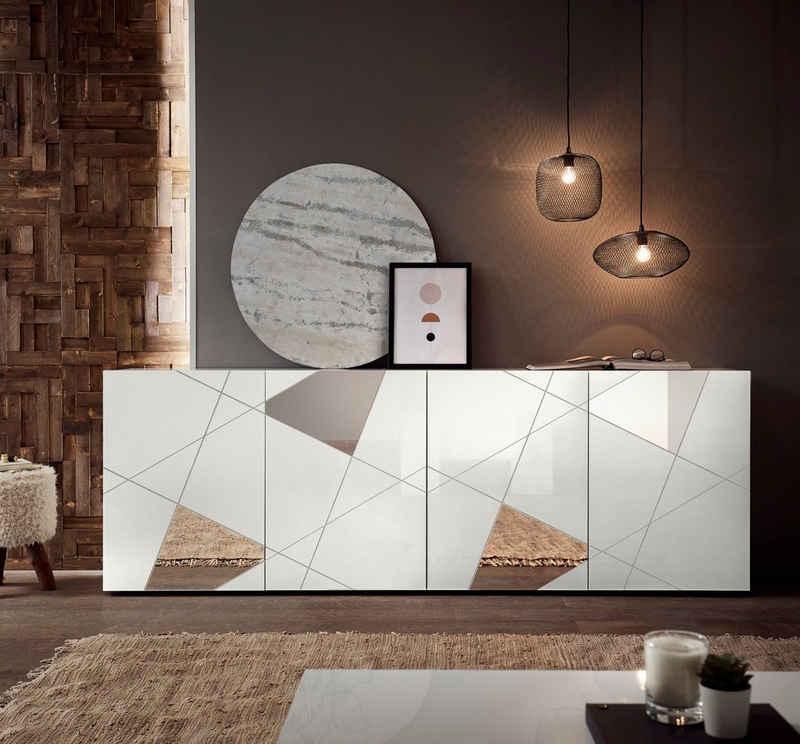 LC Sideboard »Vittoria Sideboard«, Breite 241 cm, Front mit Siebdruck und Spiegelfront
