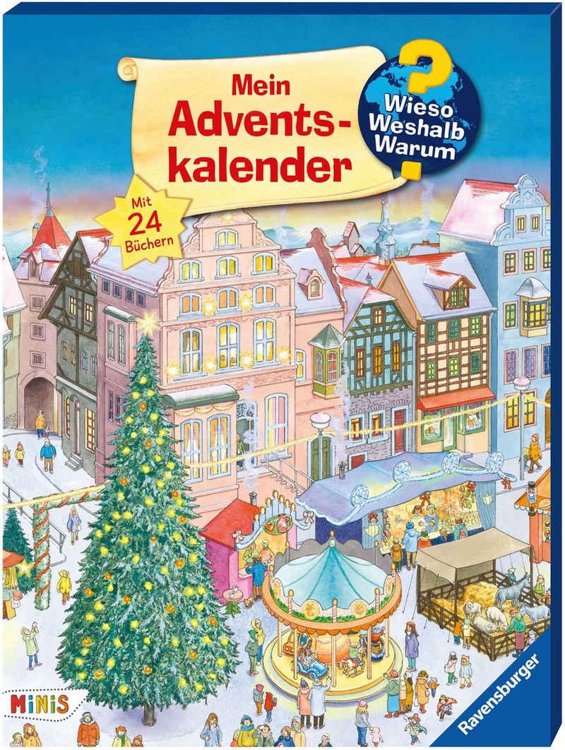 Ravensburger Adventskalender »Wieso? Weshalb? Warum?«, mit 24 Mini-Bilderbüchern; FSC® - schützt Wald - weltweit