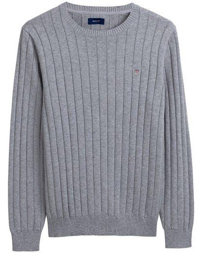 Gant Strickpullover »Baumwoll-Ripp Pullover«