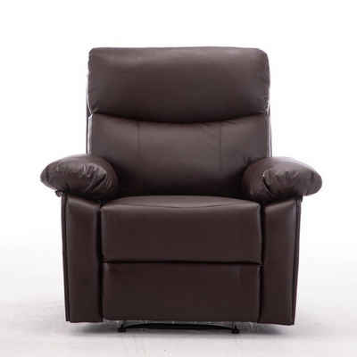 Happy Home Relaxsessel »HappyHome Relaxsessel HWP12-BRN TV-Sessel Fernsehsessel Lederoptik Braun«