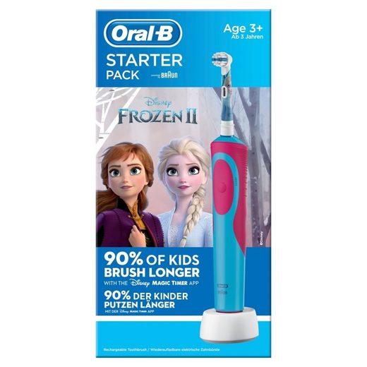 Oral B Elektrische Kinderzahnbürste Kids Frozen Promo Starterpack, elektrische Zahnbürste, Kinderzahnbürste, Aufsteckbürsten: 1 St.