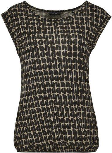 OPUS T-Shirt »Strolchi« mit abstraktem Print