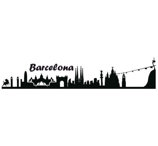 Wall-Art Wandtattoo »Stadt Skyline Barcelona 100cm« (1 Stück)