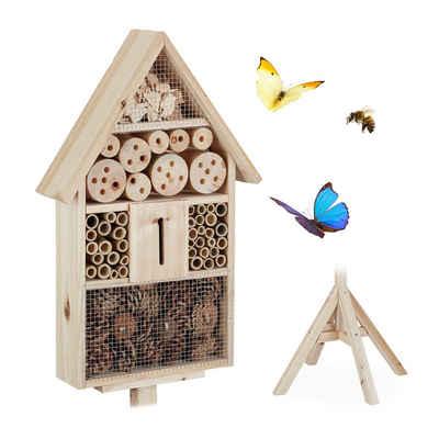 relaxdays Insektenhotel »Insektenhotel Haus auf Ständer«