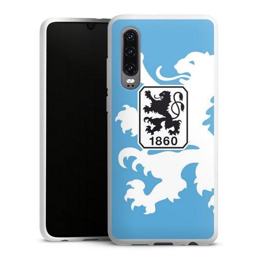 DeinDesign Handyhülle »1860 Löwe groß« Huawei P30, Hülle TSV 1860 München Offizielles Lizenzprodukt Wappen
