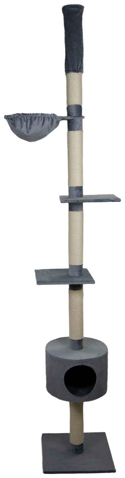 SILVIO design Kratzbaum »Katzenbaum Abakus grau«, BxHxT: 50x50x230 cm