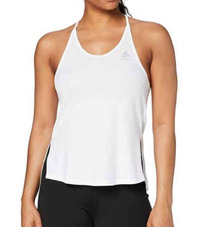 Odlo Tanktop »odlo Zeroweight Sport-Shirt bequemes Damen Träger-Top mit Ceramicool-Technologie Fitness-Shirt Weiß«