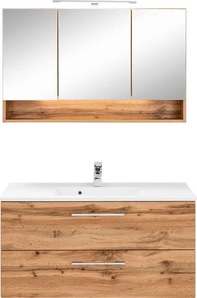 HELD MÖBEL Badmöbel-Set »Soria«, (2-St), Waschplatz Breite 100 cm, Spiegelschrank