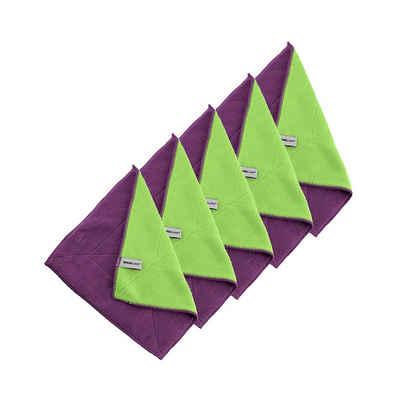 Kochblume Geschirrtuch »Microfasertuch 30 x 30 cm«, (Spar-Set, 5-tlg), 800g/m² Qualtität