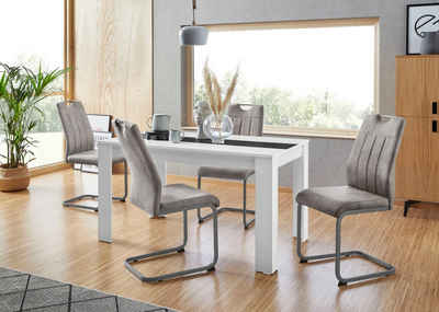 HELA Essgruppe, (Set, 5-tlg), bestehend aus 4 Stühle & 1x Tisch