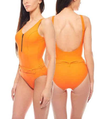 Heine Badeanzug »Shaping-Badeanzug große Oberweite Einteiler Schwimmanzug ausgefallene Bademode Orange heine«