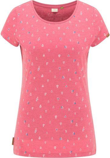 Ragwear T-Shirt »MINT B ORGANIC« mit Multicolor-Allover-Druck