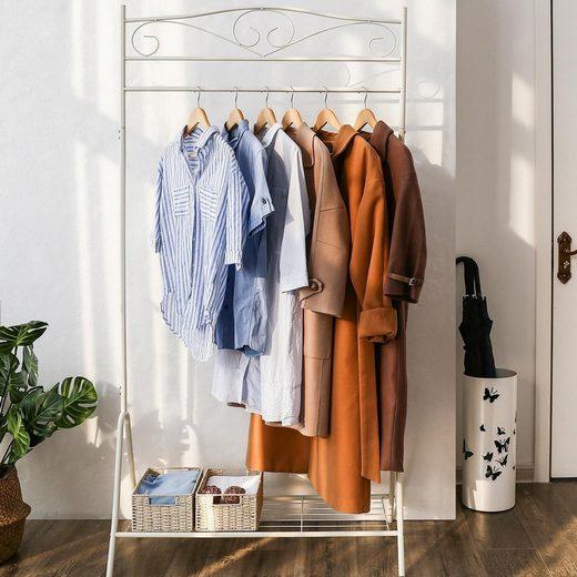 SONGMICS Kleiderständer »HSR01W HSR01B«, Kleiderstange, Garderobenständer, weiß