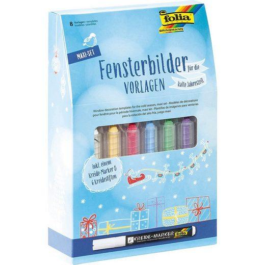 Fenstersticker »Fensterbilder Maxi-Set Kalte Jahreszeit«, Folia