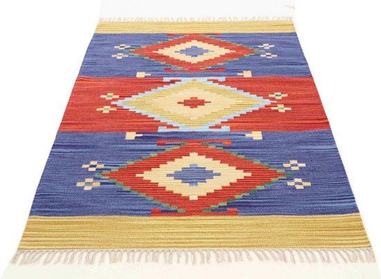Teppich »Kelim Svea«, carpetfine, rechteckig, Höhe 5 mm, Wendeteppich