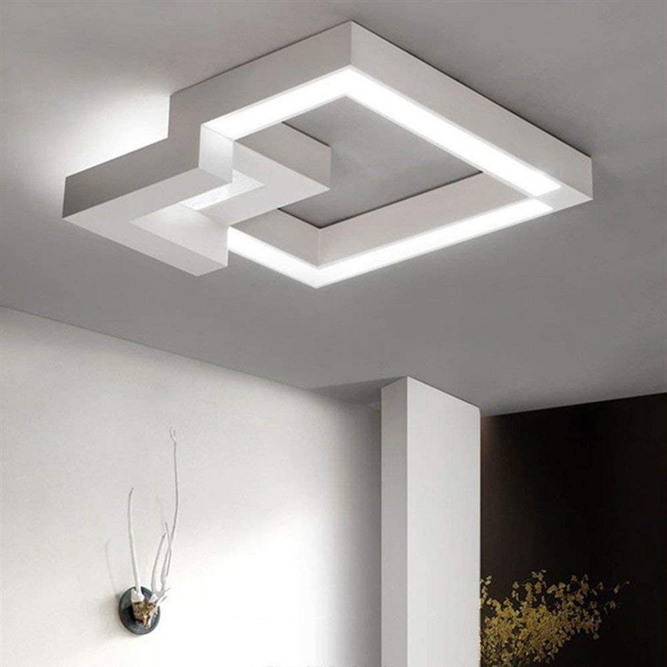 ZMH LED Deckenleuchte »Deckenlampe 20W Wohnzimmerlampe Dimmbar mit  Fernbedienung Eckig für Schlafzimmer Küchen Badezimmer« online kaufen   OTTO
