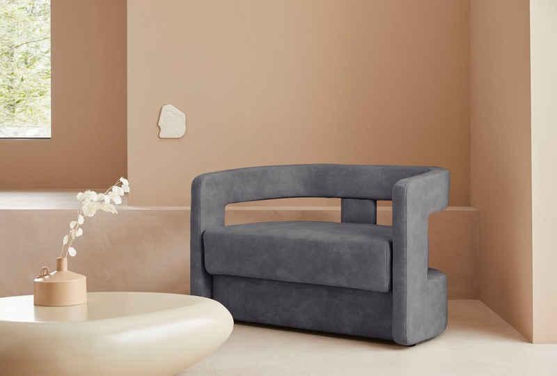 LeGer Home by Lena Gercke 2-Sitzer »Taraneh«, außergwöhnliches Design, auch im Bouclé-Stoff