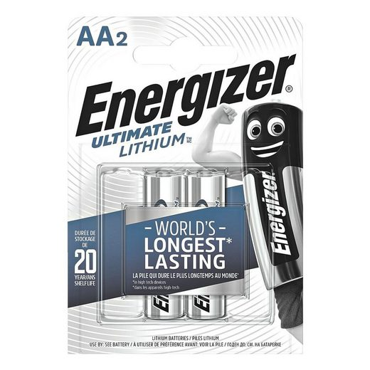 Energizer »Ultimate Lithium« Batterie, (2 St), AA, mit langer Lebensdauer