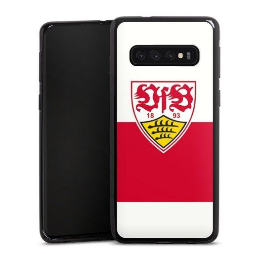 DeinDesign Handyhülle »VfB Stuttgart Brustring« Samsung Galaxy S10, Hülle VfB Stuttgart Offizielles Lizenzprodukt Logo