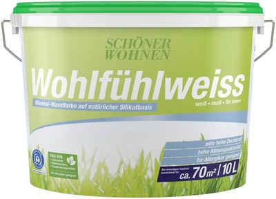SCHÖNER WOHNEN-Kollektion Wand- und Deckenfarbe »Wohlfühlweiß 11 Liter«, Aktionsartikel mit +10% mehr Inhalt und Aktionscode
