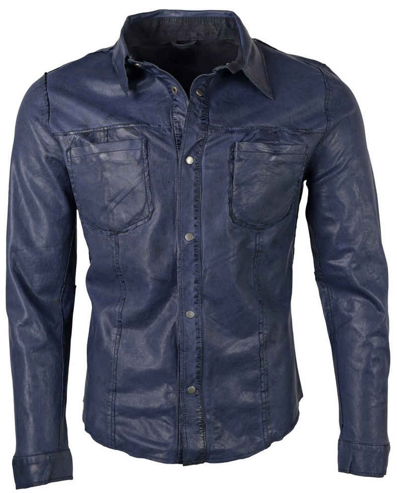 RICANO Lederjacke »Reverse Shirt« Hochwertiges Lamm Leder, Wendbar - Beidseitig tragbar