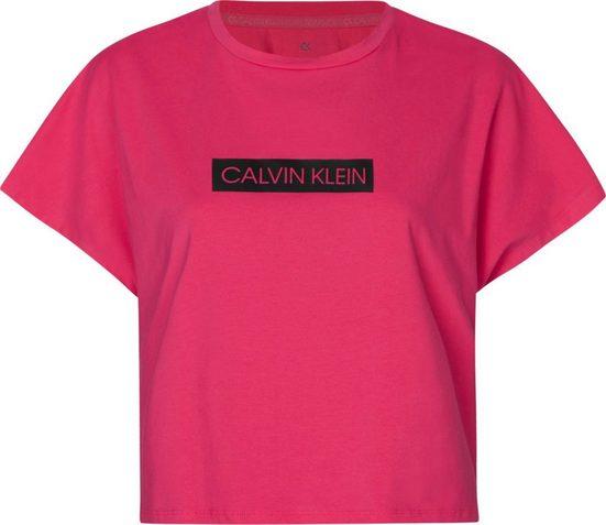 Calvin Klein Performance Rundhalsshirt »SHORT SLEEVE T-SHIRT« mit Calvin Klein Logo-Schriftzug auf der Brust