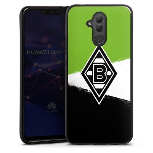 DeinDesign Handyhülle »Borussia Grunge Grün-Weiss-Schwarz« Huawei Mate 20 Lite, Hülle Gladbach Borussia Mönchengladbach