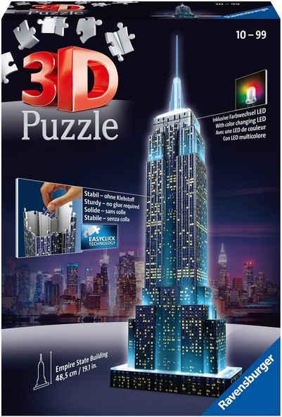 Ravensburger 3D-Puzzle »Empire State Building Night Edition«, 216 Puzzleteile, Made in Europe, FSC® - schützt Wald - weltweit