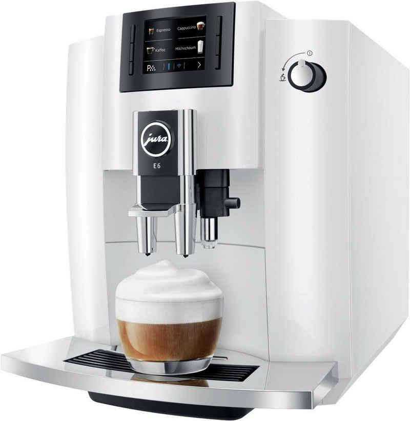 JURA Kaffeevollautomat E6 Piano White, weiß