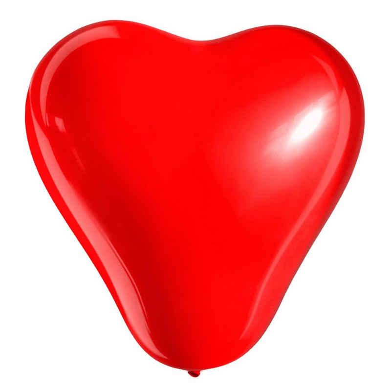 MyBeautyworld24 Luftballon »50 Stck Herzluftballon rot D= 25 cm Herzballons Luftballon Herzform Dekoration Hochzeit Verlobung«