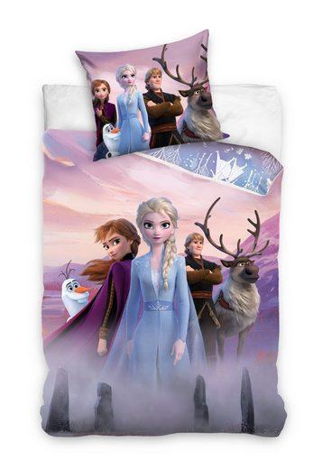 Kinderbettwäsche »Disney´s Eiskönigin 2«, Disney Frozen, Elsa, Anna und ihre Freunde