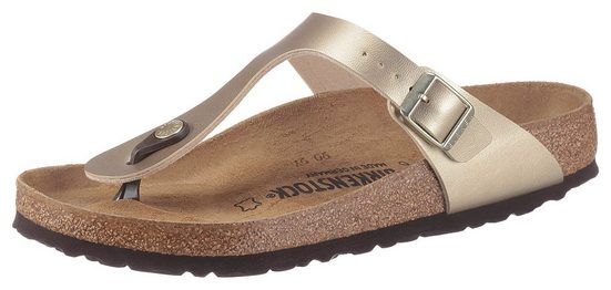 Birkenstock »GIZEH« Zehentrenner in Metallic-Optik