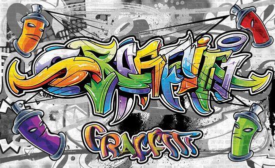 Consalnet Fototapete »Buntes Graffiti«, glatt, Motiv