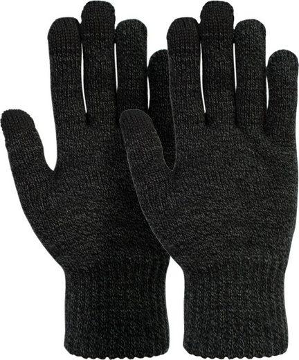 styleBREAKER Strickhandschuhe Touchscreen Strick Handschuhe mit Karo Strickmuster