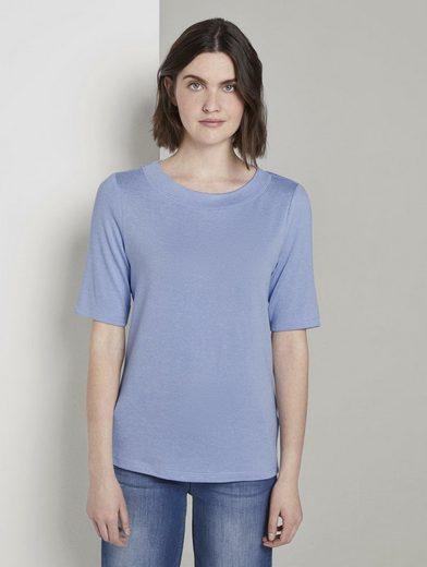 TOM TAILOR T-Shirt »Meliertes T-Shirt«