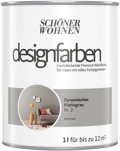 SCHÖNER WOHNEN-Kollektion Wand- und Deckenfarbe »Designfarben«, hochdeckend, Dynamisches Platingrau, matt, 1 l
