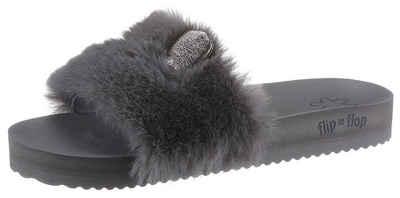 Flip Flop »POOL FUR*MOUSE METALLIC« Pantolette mit Metallic-Öhrchen