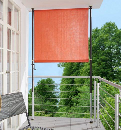 ANGERER FREIZEITMÖBEL Klemm-Senkrechtmarkise orange, BxH: 120x225 cm